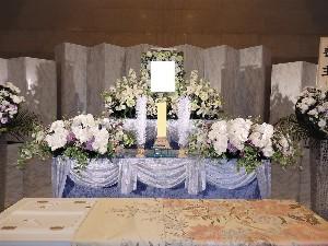 市営シルクフラワー祭壇